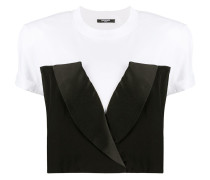 Cropped-Top im T-Shirt-Look