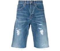 Jeans-Shorts in Distressed-Optik