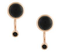 'Gravitation' Ohrringe mit Onyx und Spinell