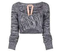 mélange-knit cropped jumper