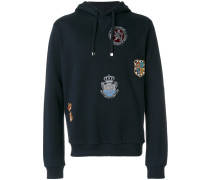 crest patch hoodie