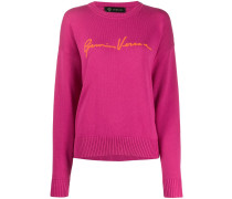 Jacquard-Pullover mit Logo