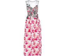 flared floral gown