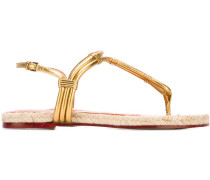 Sandalen im Metallic-Look - women