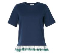 sheer lace trim T-shirt