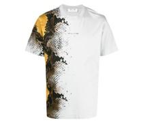 T-Shirt mit Schlangenleder-Print