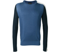colour block ribbed jumper
