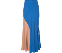 two-tone overlap skirt
