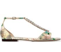 Bella Sandalen mit Schlangen-Effekt