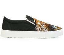 Slip-On-Sneakers mit Leopardenprint