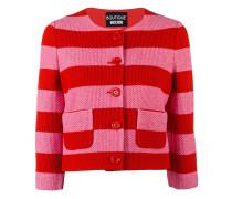 striped cropped jacket