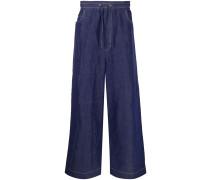 Lockere Jeans mit Stretchbund