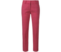 embroidered tailored trousers