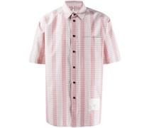 Gestreiftes Hemd mit Gittermuster