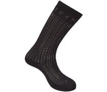 Socken mit Lochstrickmuster