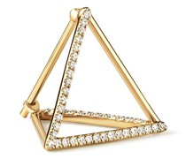 Dreieckiger Ohrring mit Diamanten