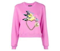'Dove Heart' Cropped-Sweatshirt