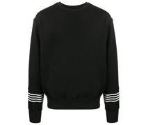 Sweatshirt mit gestreiften Bündchen