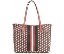 patterned striped tote