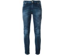 Skinny-Jeans mit gerippten Borten