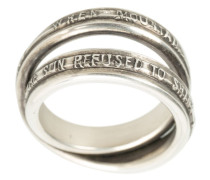 embossed quotes ring