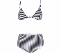 Gestreifter Triangel-Bikini