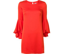 three-quarters ruffled sleeves dress