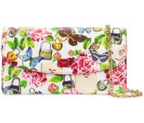 Secrets print wallet bag with removable pouches