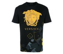 - T-Shirt mit Medusa-Print - men - Baumwolle - XS
