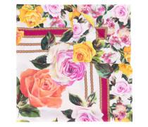 Seidenschal mit Rosen-Print - women - Seide