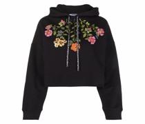 Floraler Hoodie mit Kordelzug