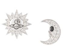 sun moon stud earrings