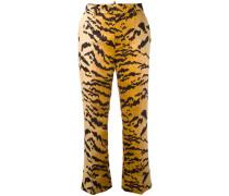 Klassische Hose mit Tiger-Print