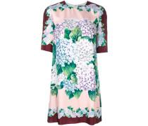 Kleid mit Hortensien-Print
