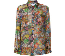 Seidenhemd mit Muster