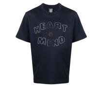 "T-Shirt mit ""Heart Mind""-Applikation"