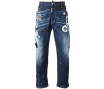 'Workwear' Jeans mit Patches