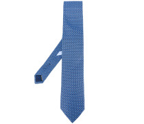 geometric pattern tie - men - Seide