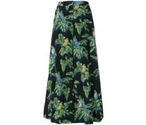 Tropical print wide-leg trousers