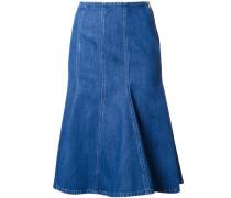 - Ausgestellter Jeansrock - women - Baumwolle - 0