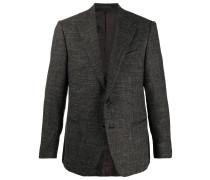 textured single-breasted blazer
