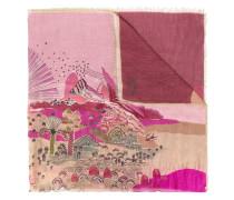 - Schal mit Landschafts-Print - women