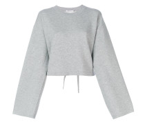 Cropped-Pullover mit Knoten-Detail