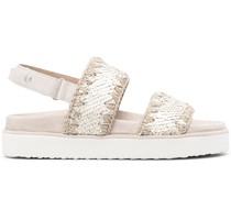 Sandalen mit Pailletten