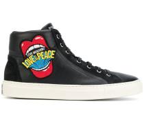 Hogh-Top-Sneakers mit Stickerei