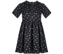 heart print flared dress