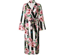 rose striped robe coat