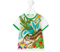 T-Shirt mit Dschungel-Motiv - kids - Baumwolle
