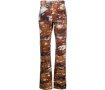 Mid-Rise-Jeans mit grafischem Print