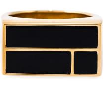 18kt vergoldeter 'Bianca' Ring